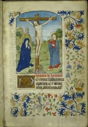 Newberry Case Ms 185 Vault Book Of Hours Heures De La Crois F